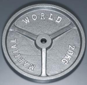 マーシャルワールド(MARTIAL WORLD) 【代引不可・送料別途】PLATE アイアンプレート穴径28mm 20.0kg