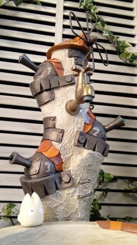 立水栓 水栓柱 立水栓セット 立水栓水栓柱【みはりの砦(とりで)立水栓柱&シンクセット】庭 水道 外水道 水受け ガーデンパン