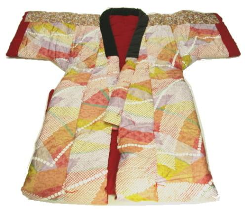 毛布 天然綿花100%の手作りかいまき(昭和レトロな着る布団 薄掛け) メキシコ綿1.2kg入【送料無料】