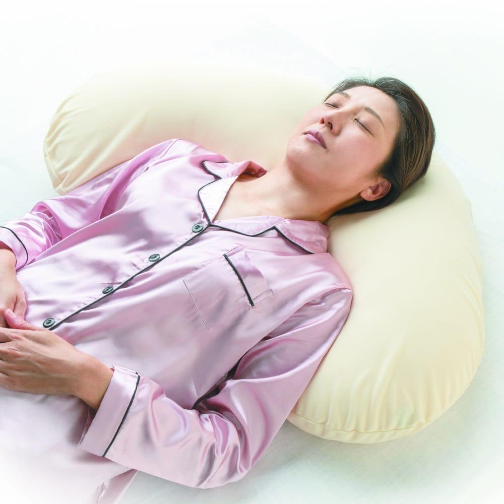 アルファプラ スリープピロー クレッセントタイプ Lサイズ 肩までサポートする大きめの枕 【枕 まくら ピロー クッション 仰向け 横向き ポジショニング 体圧分散 床ずれ 関節 介護 日本製】【N】