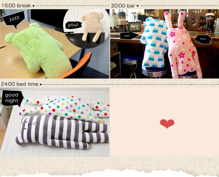 ACCENT (accent) ( クラフトホリック ) CLAFTHOLIC Japan craft pillow RAB SAKURA (Sakura love)