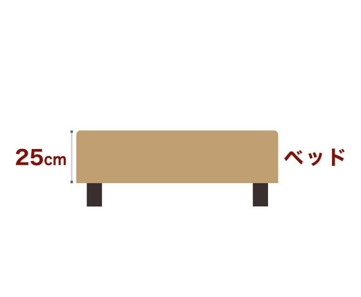 セレクトベッドポケットコイル(線の直径2mm)脚:ダークブラウン色(22cm)クイーンサイズ(160×195cm)ライトブラウン