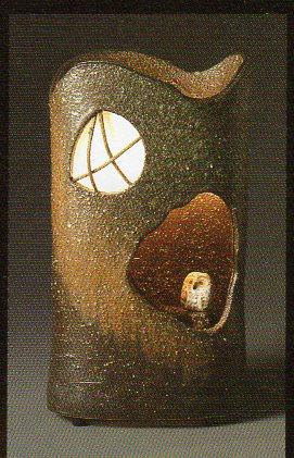【信楽焼】 ふくろう灯り(夕暮れのふくろう) ふくろう/不苦労/ふくろう/おしゃれ/陶器/送料無料/和/インテリア/人気/売れ筋/プレゼント/お祝い】