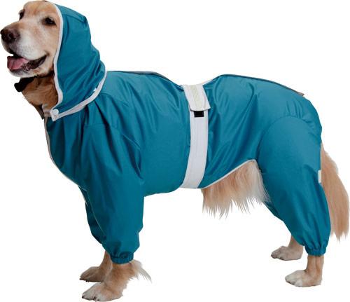 大型犬用レインコート 超はっ水安全コート 【ターコイズブルー】大型犬 レインコート