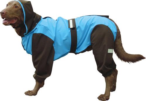 大型犬用レインコート 超はっ水・安全コート 【スカイ×チョコレート】大型犬 レインコート