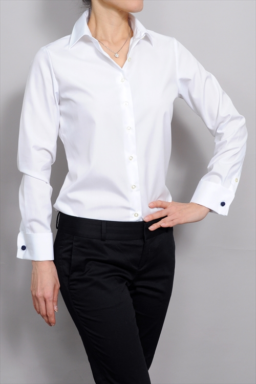 1c2124126812 Ladies shirts ladies shirts natural fit double cows Premium cotton form  stable long sleeves shirt wide ...