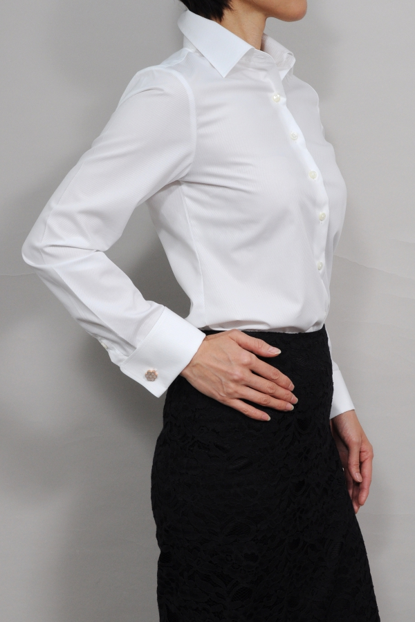 70901ed21dd1d Lady's shirt Lady's shirt | Long sleeves shirt business shirt office  collared shirt plain fabric white shirt white shirt premium cotton made in  French ...