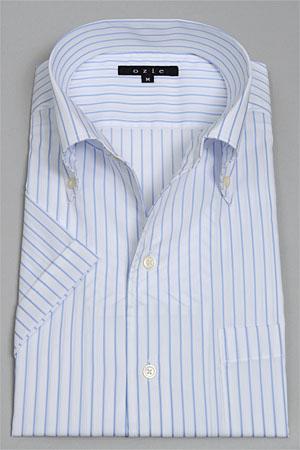 供的短袖衬衫短袖Y衬衫短袖衬衫酷最大意大利式领衬衫式裙衫衬衫紧配合按钮降低彩色蓝大的尺寸绅士使用的细长的刻刀衬衫清凉商务衬衫OZIE的短袖衬衫SALE dobisutoraipu