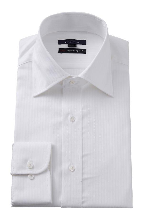 ドレスシャツ タイトフィット スリム ワイドカラー メンズ おしゃれ オシャレ Yシャツ ホワイト 白 | ワイシャツ 高級 シャツ 長袖 トールサイズ ビジネス 綿100% カッターシャツ 大きいサイズ 無地 メンズドレスシャツ ビジネスシャツ フォーマル フォーマルシャツ
