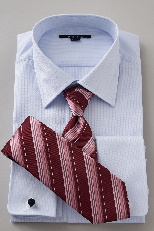 e7c57fef346 French cuff shirt-dress shirt long sleeves shirt tight fit slim semi-wide  color cotton 100% form shirt premium cotton blue blue business shirt four  circle ...