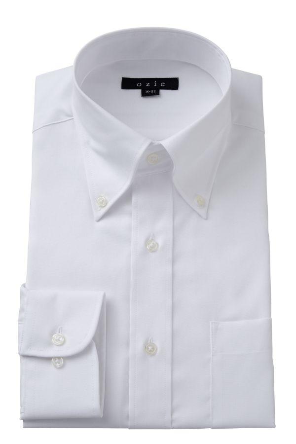 ドレスシャツ 長袖ワイシャツ タイトフィット スリム ボタンダウンカラー ボタンダウンシャツ メンズ おしゃれ Yシャツ ホワイト 白| シャツ ビジネス トールサイズ 大きいサイズ カッターシャツ 形態安定 ワイシャツ 綿100% 形状記憶 敬老の日 ビジネスシャツ 長袖 高級