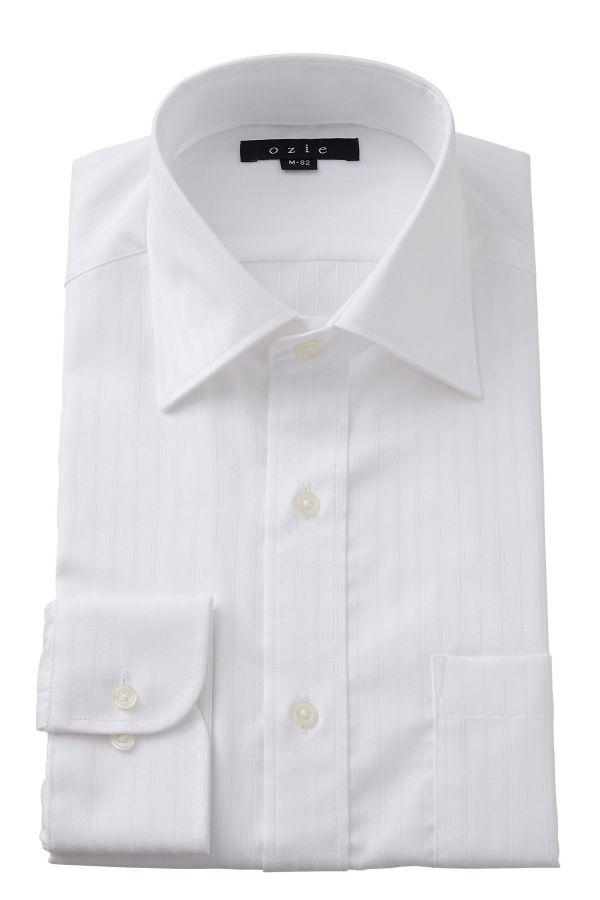 ドレスシャツ 長袖ワイシャツ タイトフィット スリム ワイドカラー メンズ おしゃれ オシャレ Yシャツ ホワイト 白   シャツ ビジネス トールサイズ 大きいサイズ カッターシャツ 無地 形態安定 プレミアムコットン ワイシャツ 高級 長袖シャツ 綿100% コットンシャツ