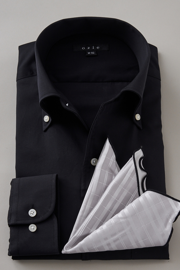 Italian Collar Shirt Men Dress Shirt Long Sleeves Shirt Tight Fit Premium Cotton Cotton 100
