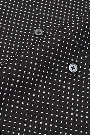 供意大利式领衬衫式裙衫衬衫长袖子衬衫纤细细长紧配合按钮降低彩色黑色黑衬衫点花纹3L 4L绅士使用的商务衬衫刻刀衬衫黑衬衫连衣裙彩色OZIE的衬衫装衬衫意大利式领衬衫SALE