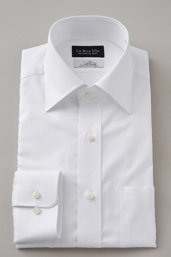 ドレスシャツ 長袖ワイシャツ ワイドカラー ホワイト 白 | ワイシャツ メンズ ビジネス 高級 長袖シャツ 日本製 Yシャツ 無地 プレミアムコットン ワイドスプレッドカラー シャツ おしゃれ 綿100% カッターシャツ コットンシャツ 結婚式 フォーマル フォーマルシャツ スーツ