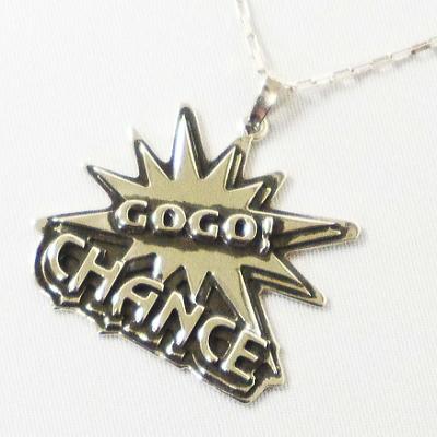 ジャグラー グッズ シルバー ペンダント GOGO!CHANCE パチスロ スロット キャラクター メンズ レディース ペンダントトップ ネックレス
