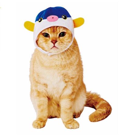 【キャシュレス5%還元対象】ペティオ猫用変身ほっかむりサカナW21743【メール便OK】【レターパックプラスOK】