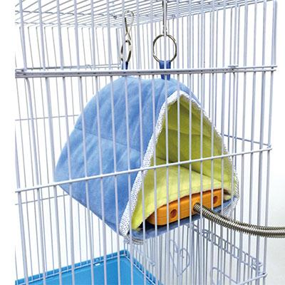 底面が外せて洗えるヒーターと組み合わせられる マルカンMB-120鳥たちの寝床三角ハウス1個 メール便OK 予約販売品 店舗 レターパックプラスOK