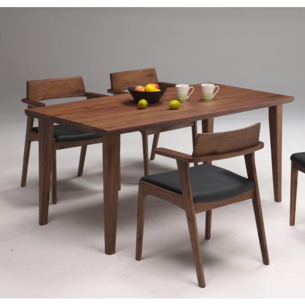 テーブル ダイニングテーブル 4人用ダイニング カフェ風 北欧風 プラハ 単品 送料無料 ブラウン 150 ナチュラル エレガント 木製 セール お買い得 家具 インテリア 価格