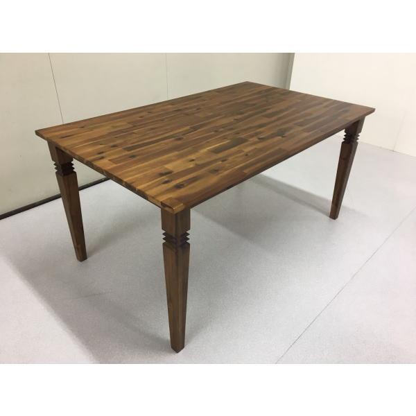 おしゃれ テーブル 150 ダイニングテーブル 4人用ダイニング カフェ風 北欧風 バカラダイニングテーブル 単品 送料無料 ブラウン 西海岸 ヴィンテージ風 新生活 人気 セール