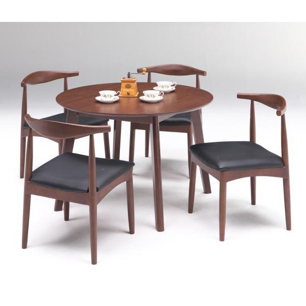 丸テーブル ダイニングテーブルセット 北欧 無垢 おしゃれ 4人掛け テーブル 天然木 ダイニングチェア モダン 和モダン 食卓テーブル ガロ ブラウン 送料無料 食卓 新入荷 流行 和風 ダイニングセット 安い ご予約品 新生活 ナチュラル