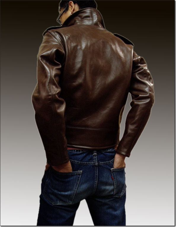 Schott RIDERS BECK MODEL HORSEHIDE(打擊馬皮革騎手別克型號)
