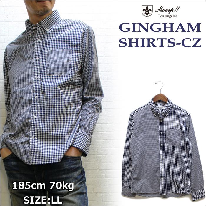 Sweep スウィープ ギンガムチェックシャツクレイジーパターン (GINGHAM CRZ CHECK SHIRTS)