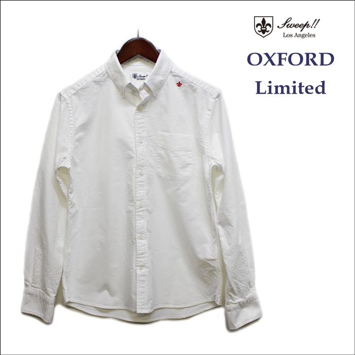 Sweep(スウィープ) オックスフォードボタンダウンシャツ 赤刺繍のリミテッドバージョン