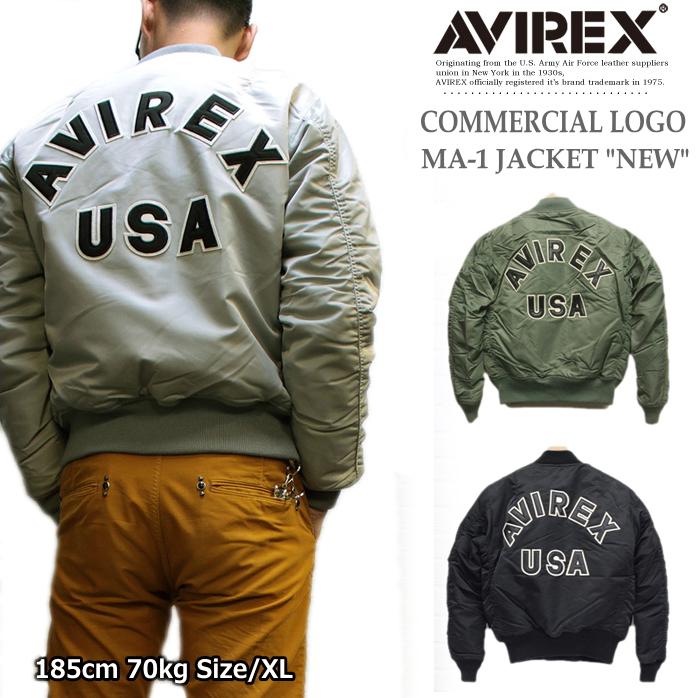 AVIREX(アヴィレックス) ロゴ入りMA-1ジャケット メンズフライトジャケット MA-1 COMMERCIAL LOGO