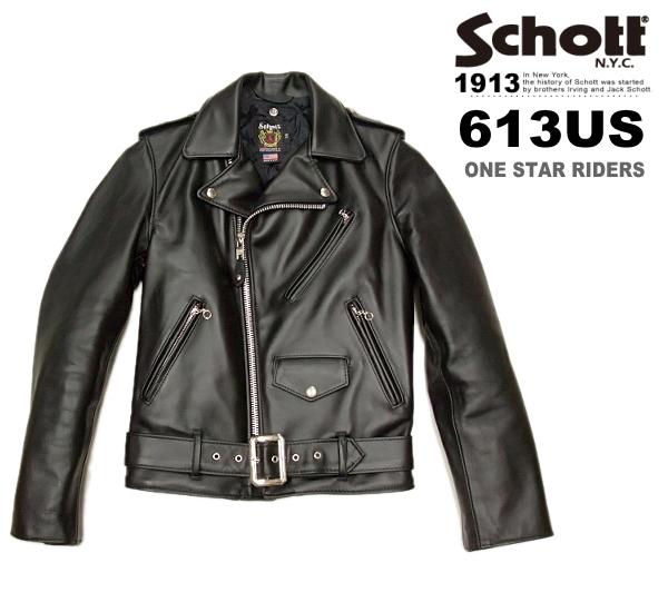 Schott ショット ダブルライダースジャケット ワンスター 613US (ショットライダース613US Schott ショット 613US 革ジャン 7007) メンズライダース 7007), ウィッチェリー:8c3952bd --- sunward.msk.ru