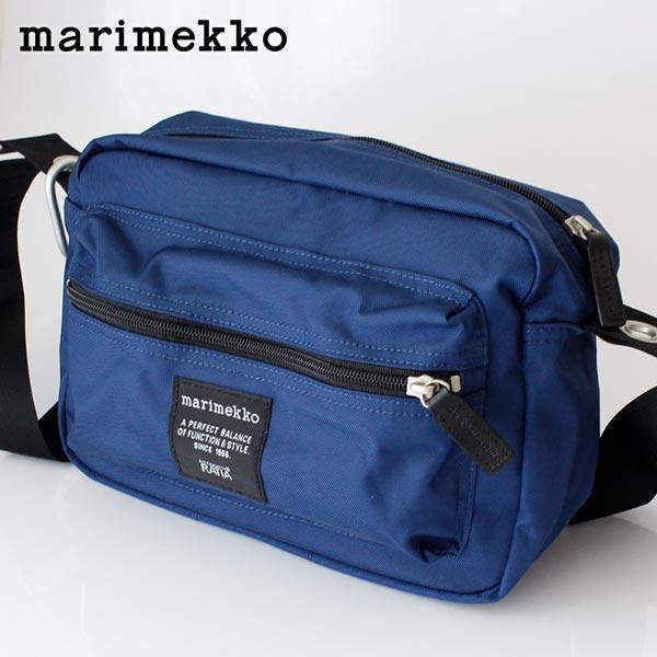 marimekko ( マリメッコ ) Roadie シリーズ 『 MY THINGS 』 ショルダーバッグ / ナイトブルー 【 正規販売店 】【あす楽】