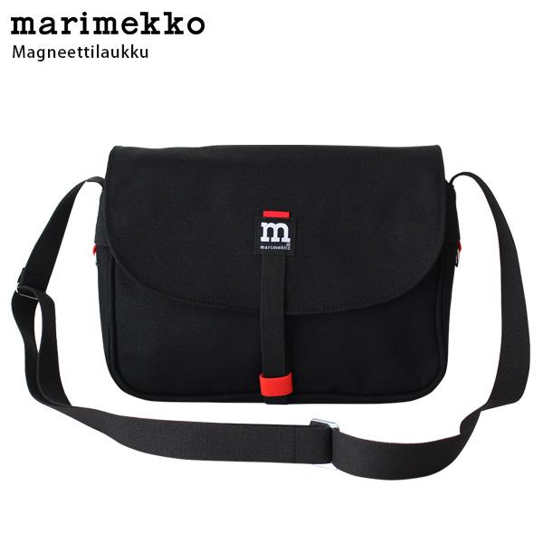 marimekko ( マリメッコ ) Magneettilaukku マグネッティラウック ショルダーバッグ / ブラック 【 正規販売店 】【 あす楽 】