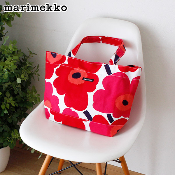 marimekko ( マリメッコ ) Japan Unikko Bag ( ジャパン ウニッコ バッグ ) トートバッグ / ホワイト×レッド 【 正規販売店 】
