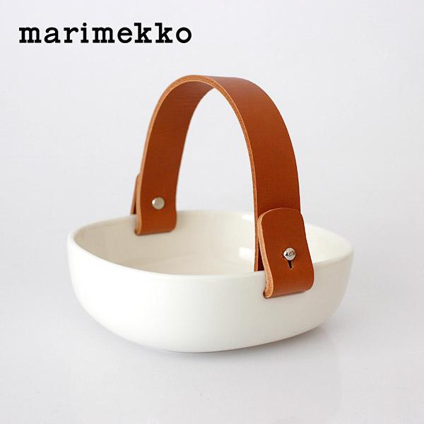 marimekko ( マリメッコ ) ボウル プレート Pikku Koppa ( ピック コッパ ) セラミックバスケット / ホワイト 【 正規販売店 】.