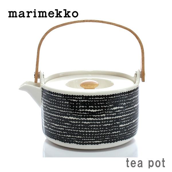 marimekko ( マリメッコ ) SIIRTOLAPUUTARHA Tea pot (シイルトラプータルハ ティーポット )/ ドット ブラック × ホワイト 【 正規販売店 】.