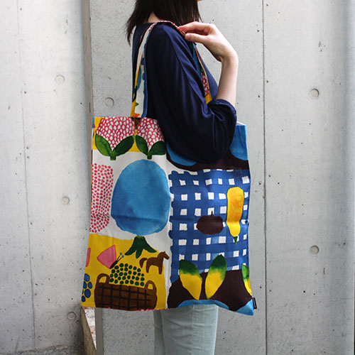 marimekko(marimekko)大手提包Kesatori eco bag(kesatoriekobaggu)纤维包。