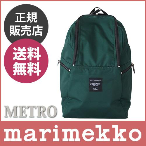 """帆布背包/福里斯特marimekko(marimekko)""""Metro""""(地铁)绿色。"""