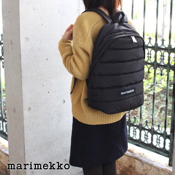 marimekko マリメッコ リュック Lolly バックパック / ブラック 【 ラッピング・のし不可 】【 正規販売店 】【あす楽】.