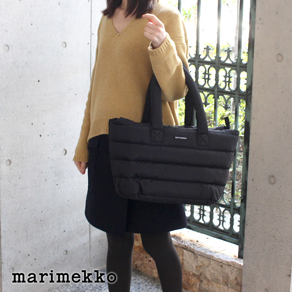 marimekko ( マリメッコ ) Milla トートバッグ / ブラック 【 ラッピング・のし不可 】【 正規販売店 】【あす楽】