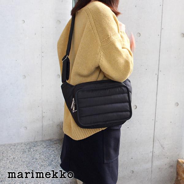 marimekko ( マリメッコ ) Billie ショルダーバッグ / ブラック 【 正規販売店 】【あす楽】.