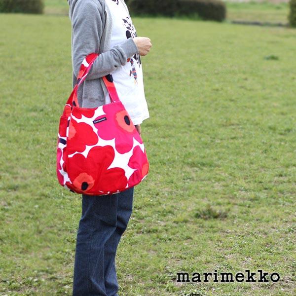marimekko ( マリメッコ ) Huvitus Pieni Unikko フヴィトゥス ピエニ ウニッコ トートバッグ / レッド 【 正規販売店 【あす楽】.