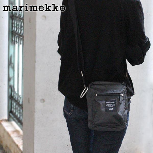 marimekko ( マリメッコ ) 『 Cash & Carry ( キャッシュ & キャリー )』 ショルダーバッグ / チャコール グレー 【 正規販売店 】.