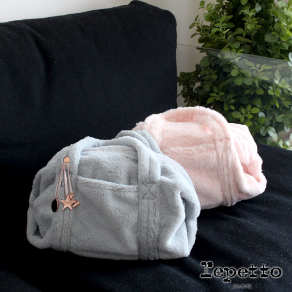 repetto ( レペット )【 B0231SF 】 Small Glide Duffle bag ( スモール ダッフル バッグ ) Synthetic Fur ファー バッグ / 全2色.