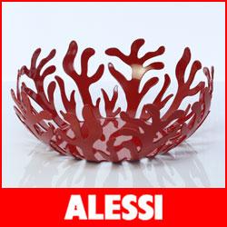 【送料無料】【正規販売店】ALESSI ( アレッシィ ) Mediterraneo メディテラーネオ フルーツホルダー / 29cm レッド.