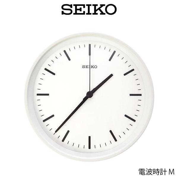SEIKO ( セイコー ) 電波時計 STANDARD ANALOG CLOCK ( スタンダード アナログクロック ) Mサイズ / ホワイト ( KX309W ) 【 正規販売店 】.