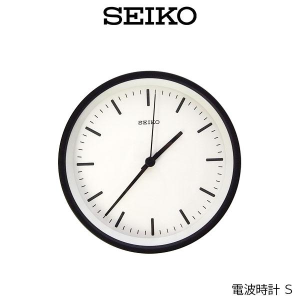 【 送料無料 】 SEIKO ( セイコー ) 電波時計 STANDARD ANALOG CLOCK ( スタンダード アナログクロック ) Sサイズ / ブラック ( KX310K ) .