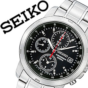 [セイコー腕時計[SEIKO 時計 ビジネス クロノグラフ]セイコー時計[SEIKO 腕時計]セイコー 腕時計[SEIKO腕時計]セイコー 時計[SEIKO時計]メンズ 腕時計 海外モデル セイコー SNDB03P1[SNDB03PC ブラック 人気 定番 生活 防水][バーゲン プレゼント ギフト]