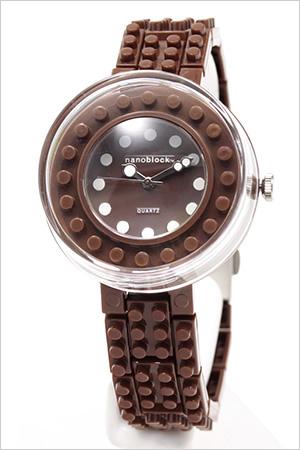 ナノブロック腕時計 nanoblock時計 nano block 腕時計 ナノ ブロック 時計 レディース キッズ ブロック柄 NAW-3411-13 レゴ デコ カスタマイズ プレゼント ギフト 祝い 入学 卒業 祝い