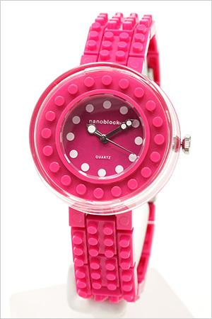 ナノブロック腕時計 nanoblock時計 nano block 腕時計 ナノ ブロック 時計 レディース キッズ ブロック柄 NAW-3411-30 レゴ デコ カスタマイズ プレゼント ギフト 祝い 入学 卒業 祝い