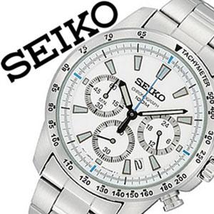 [当日出荷] 【延長保証対象】セイコー 腕時計 メンズ SEIKO 時計 セイコー 時計 セイコー 海外モデル セイコー 逆輸入 海外セイコー セイコー時計 SSB025PC SSB025P1 ホワイト プレゼント ギフト 定番 防水 送料無料